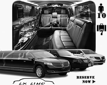 Stretch Limo airport shuttle in Calgary