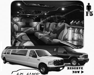 Lincoln Excursion SUV Limo for hire in Calgary AB